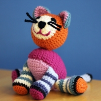 Lois Daykin Stripy Crocheted Cat Pattern
