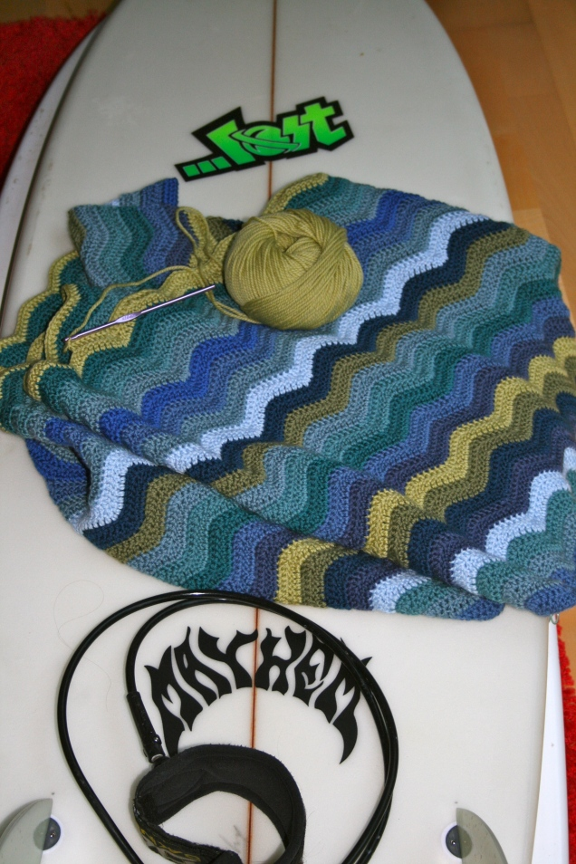 Wave Blanket - in the making