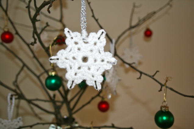 Crochet Snowflakes Close Up