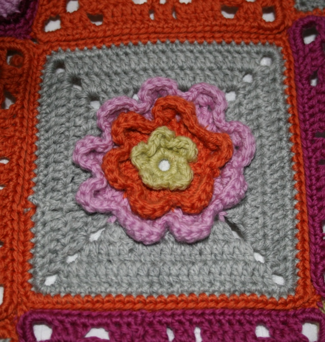 Flower Square for Blanket