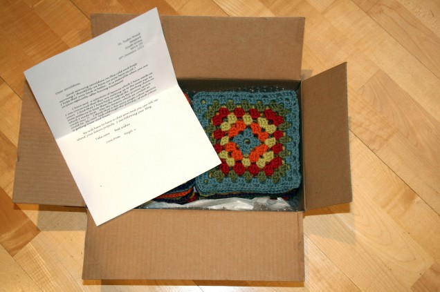 Box of Crochet Granny Squares