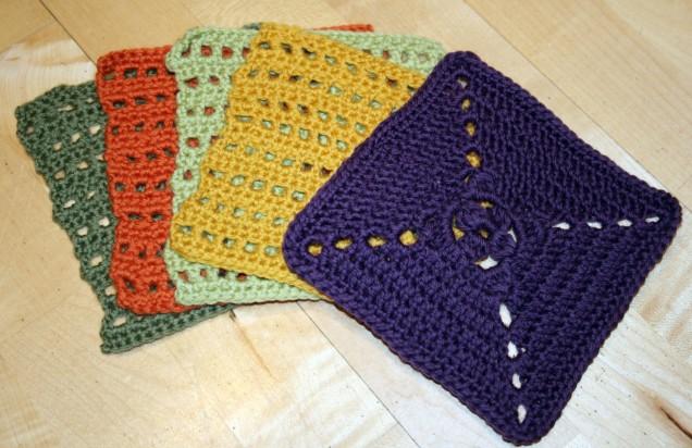 MamaH Crochet Plain Squares