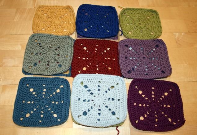 Crochet Sunray Squares