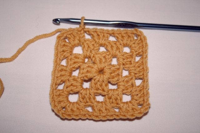 Granny Square Tutorial Third Round Complete