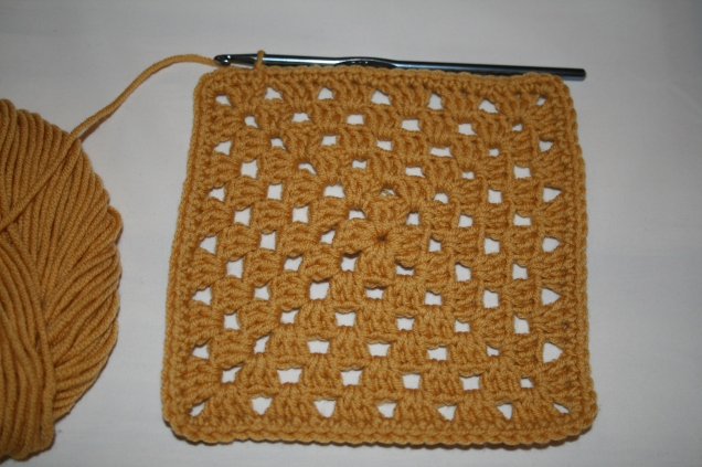 Granny Square Tutorial Double Crochet Edging