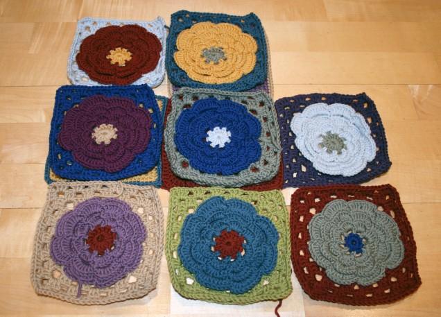 Large Flower Crochet Squares
