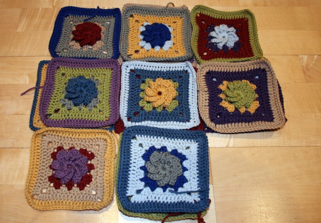 Small Flower Crochet Squares