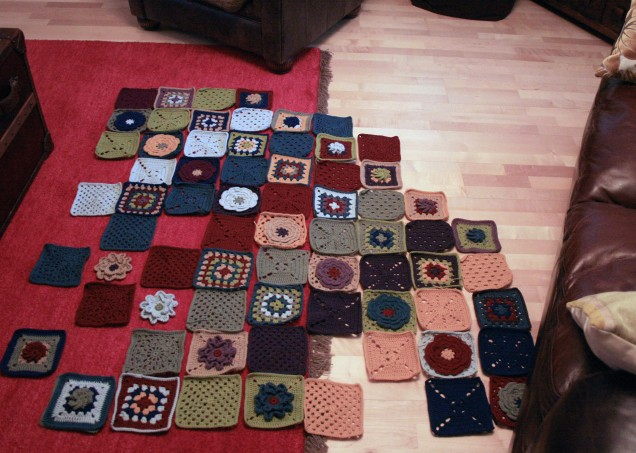 Blanket Squares in Progress