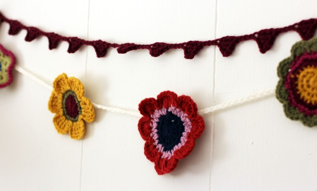 Flower Garland Red Yellow