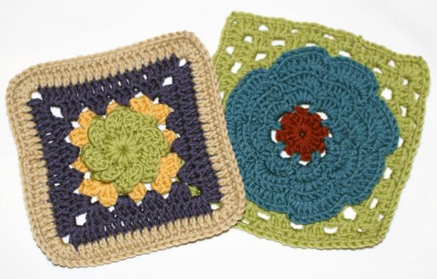 Flower Motif Blanket Squares 2