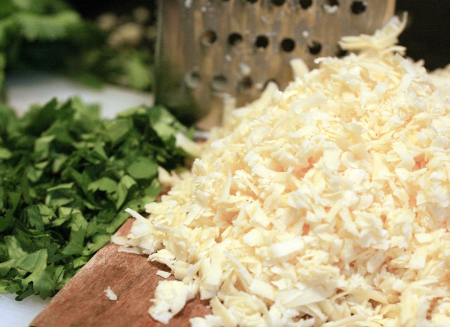 Grated Cheese and Fresh Corriander