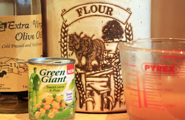 Olive Oli Flour Stock and Sweetcorn