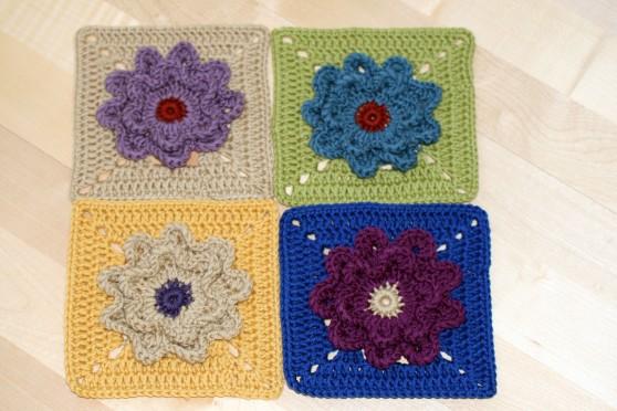 Flower Motif Blanket Squares 4