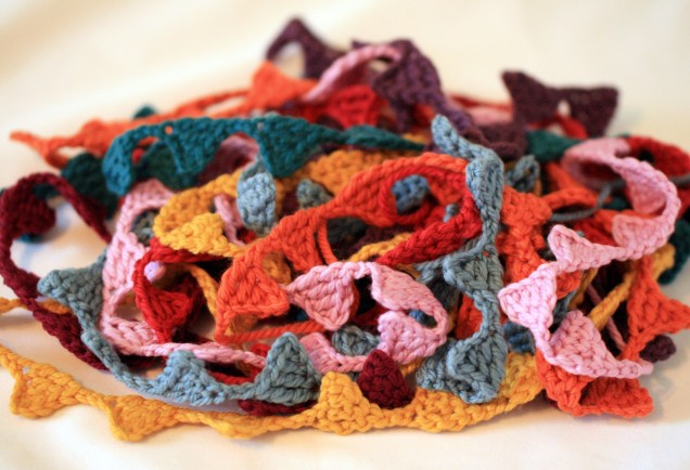 Pile of Crochet Mini Bunting