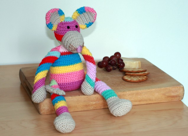 Crochet Stripy Mouse 2