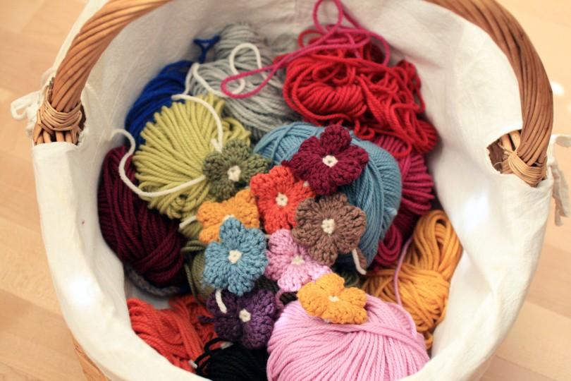 Floal Cushion Yarn Basket