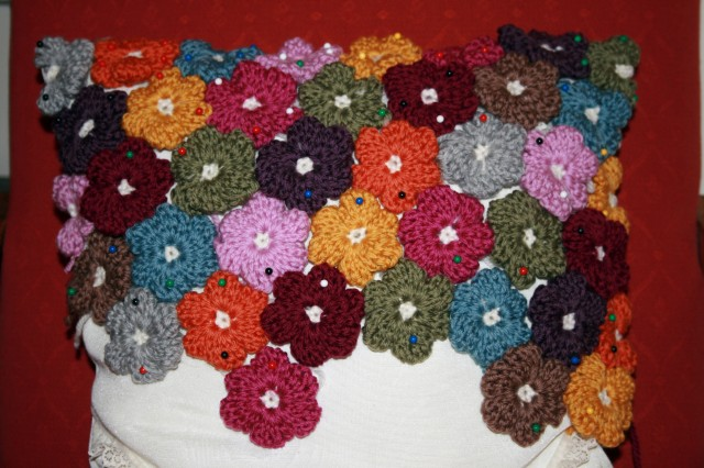 Floral Cushion Pinned