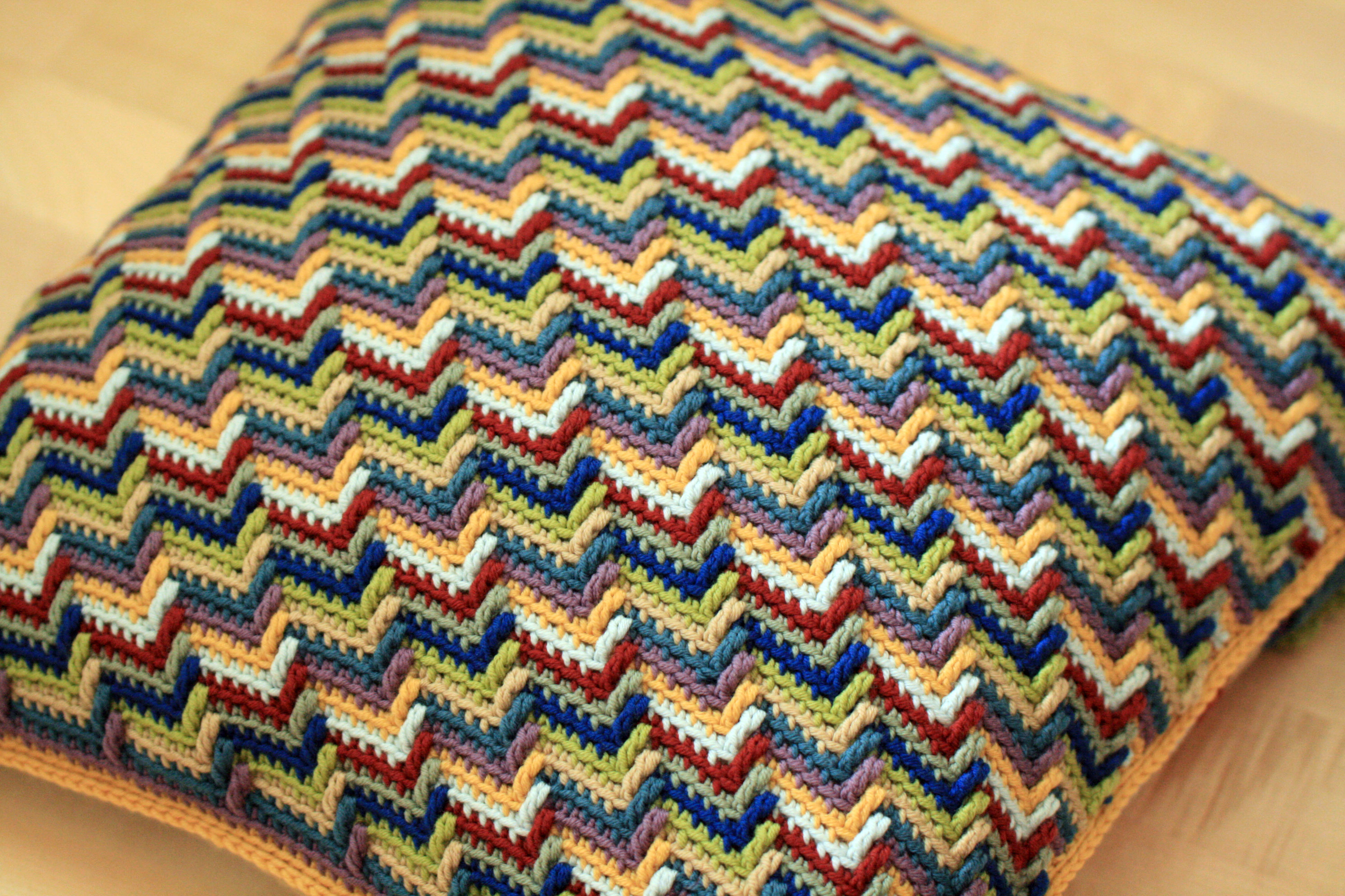 How To Crochet Apache Tears Pattern For Blanket : Apache Tears Cushion Completed