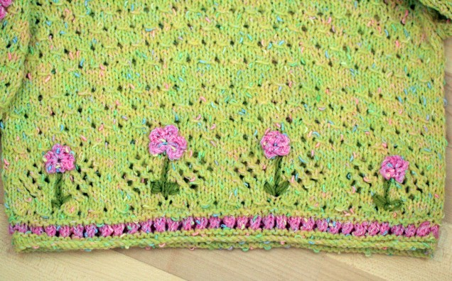 Flower Jumper Front Close up
