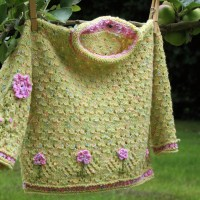 Knitted Jumper with Floral Embellishment