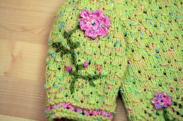 Flower Jumper Sleeve Detail 2