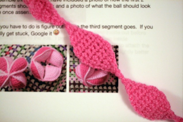 Crochet Amish Ball Segment Lids
