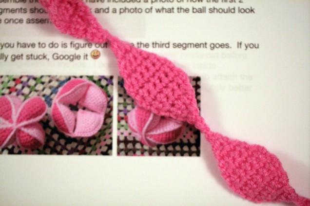 Crochet Amish Ball Segment Lids