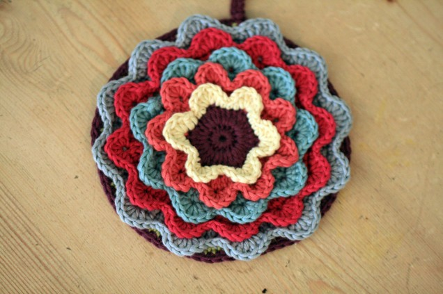 Crochet Flower Pot Holder