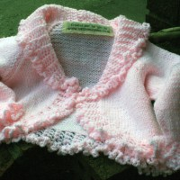 Pink Cardigan with Frilly Edging and My New Labels