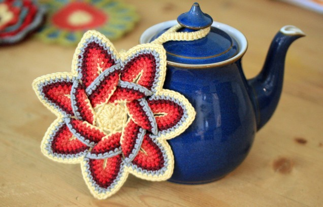 Star Pot Holder on Teapot