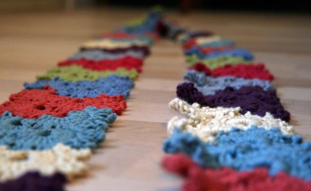 Crochet Scarf Blocked Edges 2