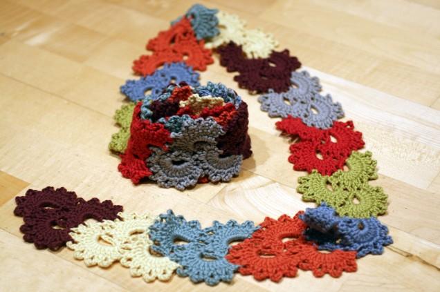 Crochet Scarf Blocked