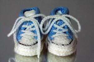 Crochet Converse Style Booties