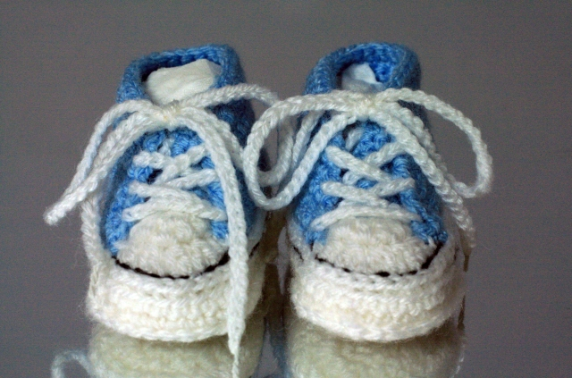 Crochet Converse Style Booties