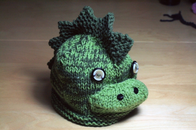 Knitted Dinosaur Hat