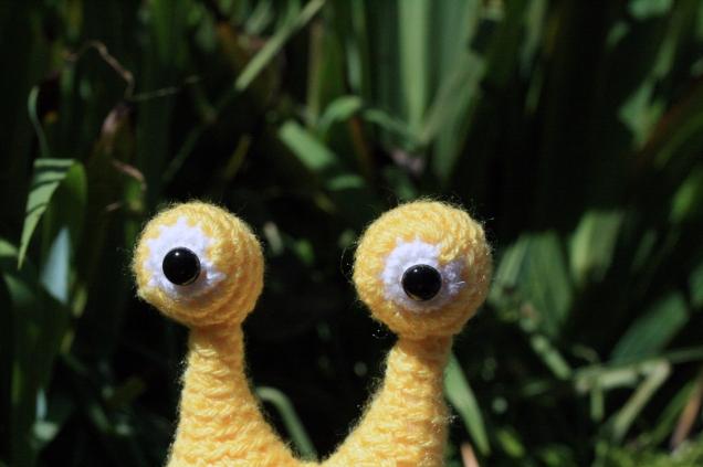 Crochet Snail Eyes