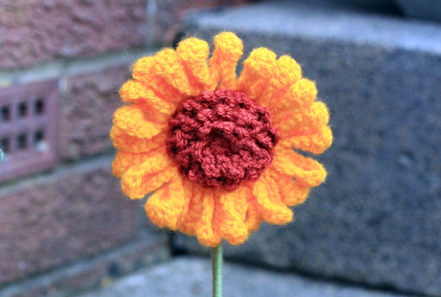 Crochet Sunflower Head 2