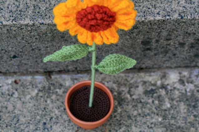 Crochet Potted Sunflower