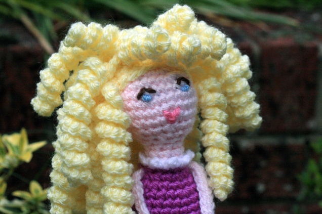 Crochet Dolly Face and Hair