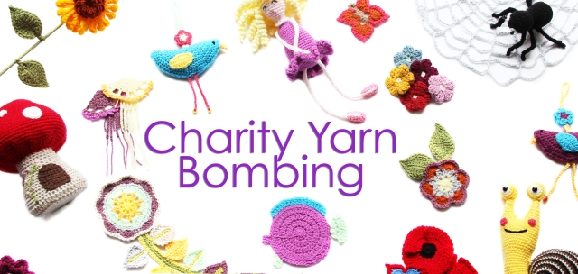 Charity Yarn Bombing Banner