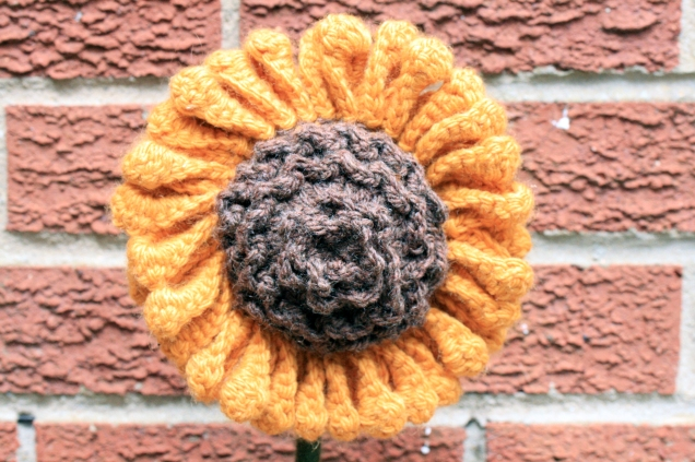 Crochet Sunflower Head Lrg1