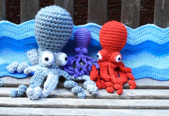 Crochet Octopus Family