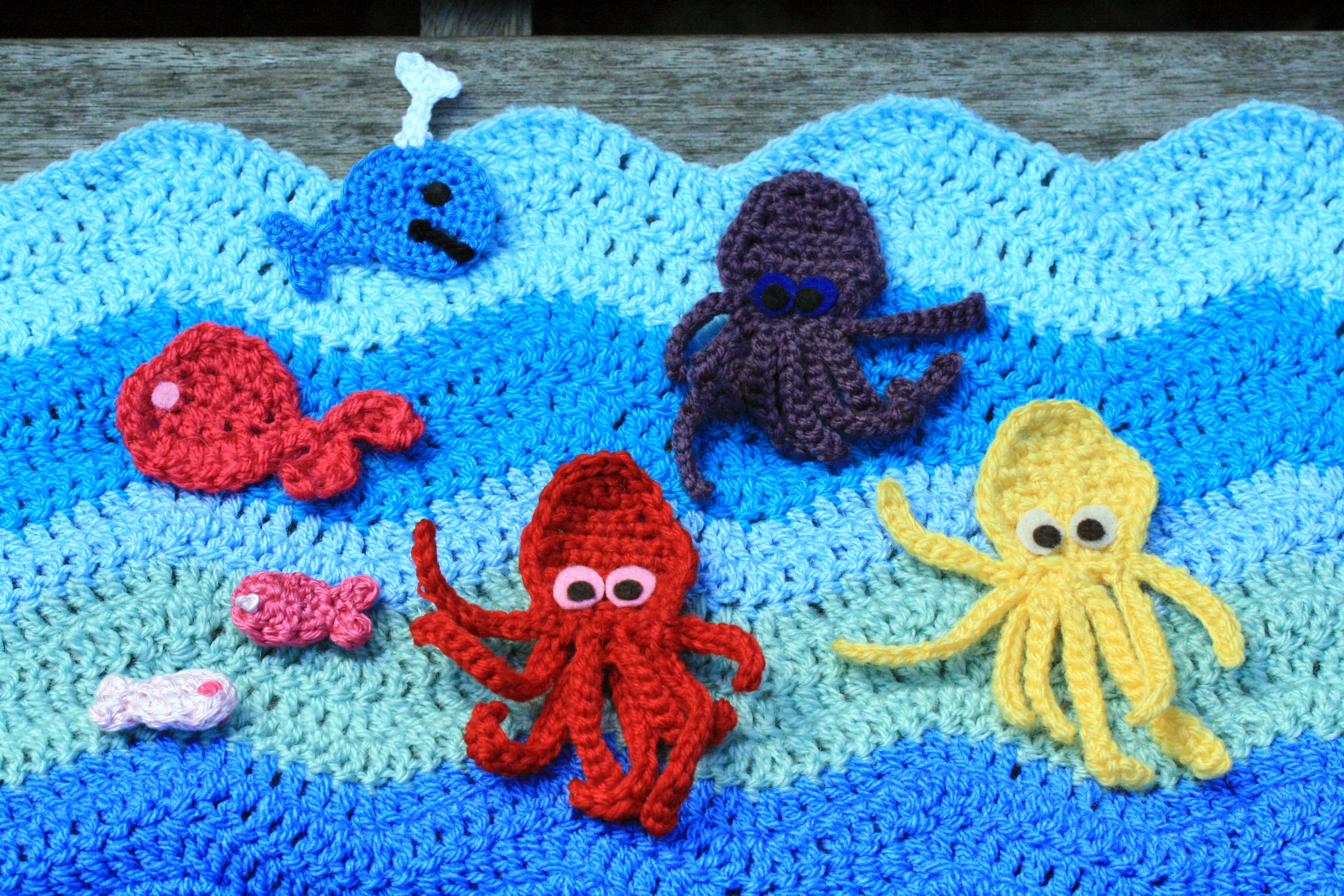 Knitted Amigurumi Sea Creatures : thegrangerange sharing and learning our creative crochet ...