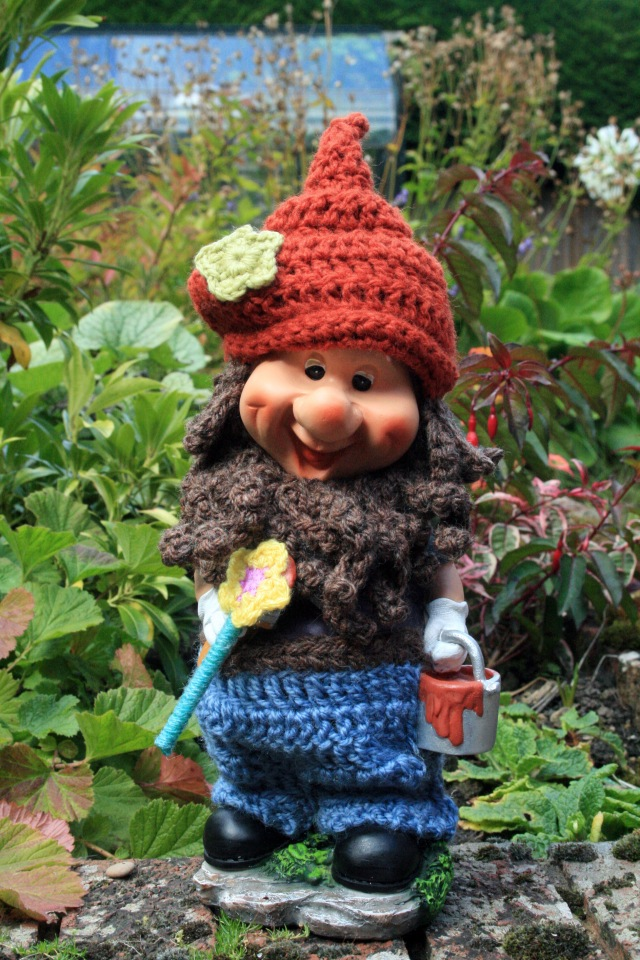 Yarn Bombed Gnome