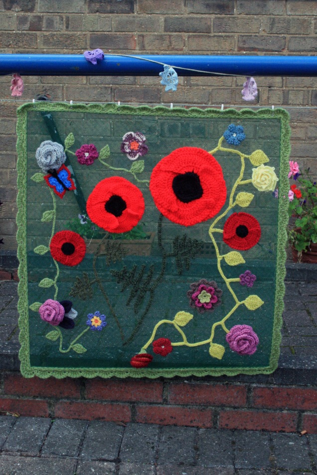 Crochet Poppy Flower Panel