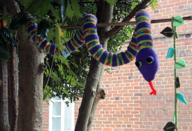 Knitted Purple Snake