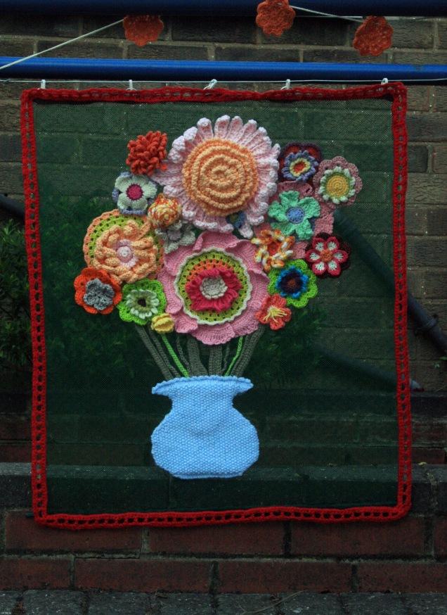 Crochet Vase Flower Panel