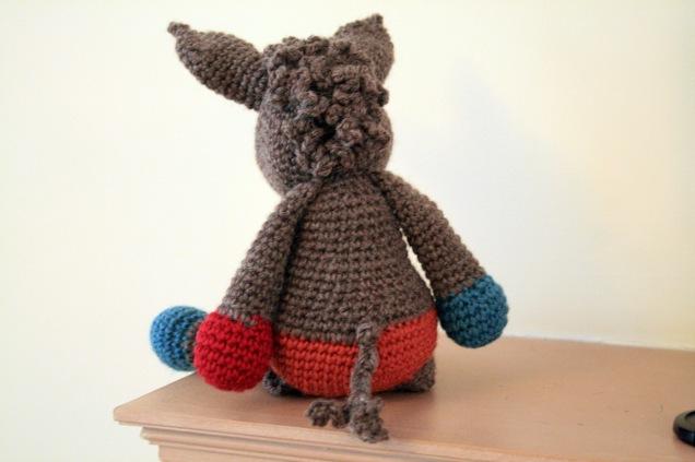 Crochet Donkey Angharad Back
