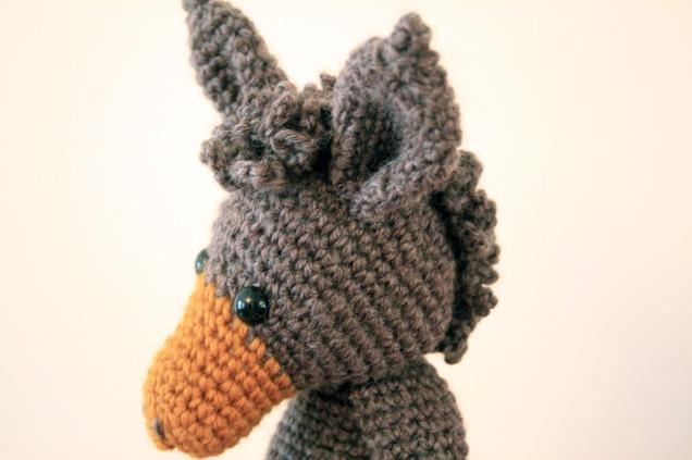Crochet Donkey Angharad Head