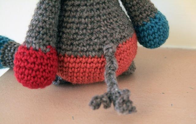 Crochet Donkey Angharad Tail